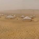 Campement des fouilles de Baouit photographe georges poncet