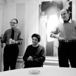 François Rouan, Jean-Michel Alberola et Jean Legac, 1992 photographe Georges Poncet