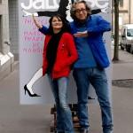 Miss Tic et Éric Landau, 2014 photographe Georges Poncet